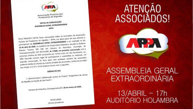 EDITAL DE CONVOCAÇÃO | ASSEMBLEIA GERAL EXTRAORDINÁRIA