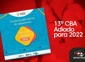 Nota Oficial adiamento do 13º CBA para os dias 16 a 18 de agosto de 2022, em Salvador/BA