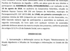Edital Assembleia Geral Extraordinária 19/08/19